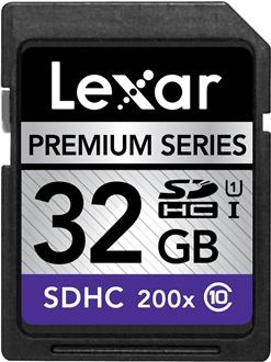 Lexar Premium 32GB SD card